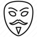 anonymous, face, hacker, mask