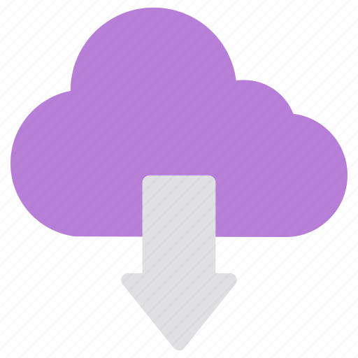 cloud, download, network, security icon