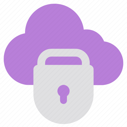 cloud, guard, lock, network, password, privacy, security icon