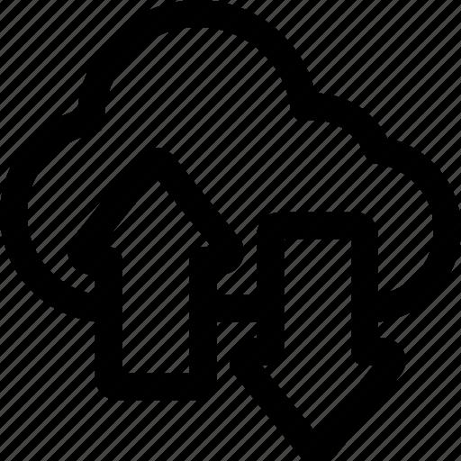 cloud, download, network, storage, upload icon