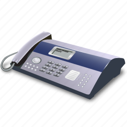 fax, phone icon