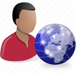 globe, net, user icon