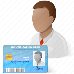 certification, id, user icon