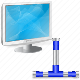 connection, workstation icon
