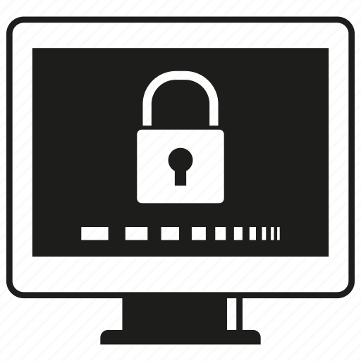 computer, key, lock, protection, security icon