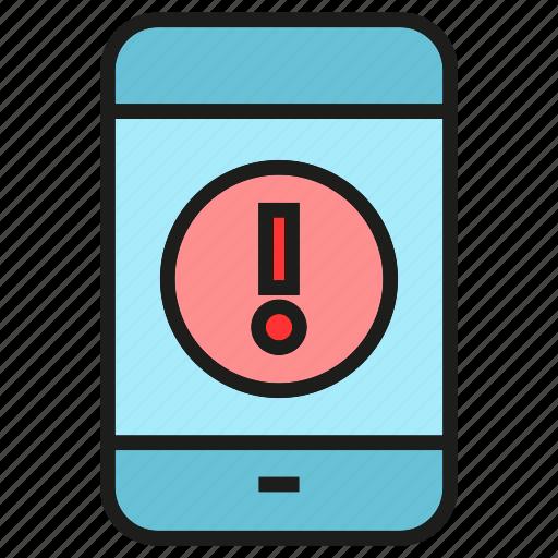 ban, caution, error, mobile, phone, warning icon
