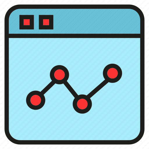 chart, graph, plot, stats, trend, web icon