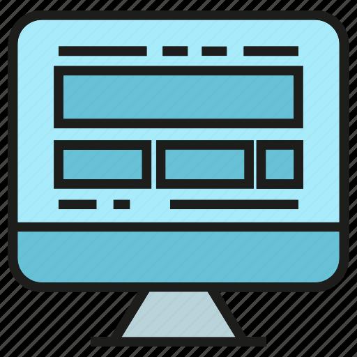 coding, computer, desktop, software, web design icon