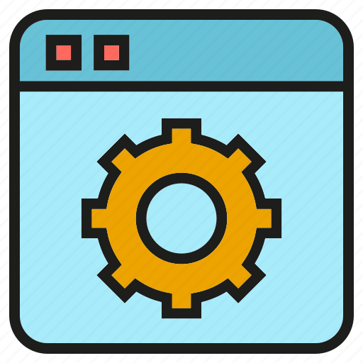 cog, gear, setting, web icon