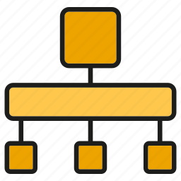 chart, diagram, organization chart icon