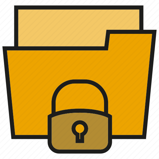 archive, file, folder, key, lock, security icon