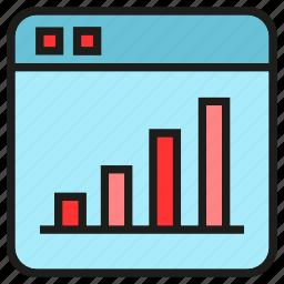 chart, data, graph, stats, web icon