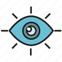 eye, iris, watch icon