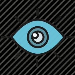eye, iris, watch icon
