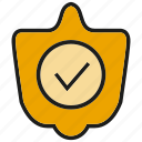 check, guarantee, prevent, security, shield, tick icon