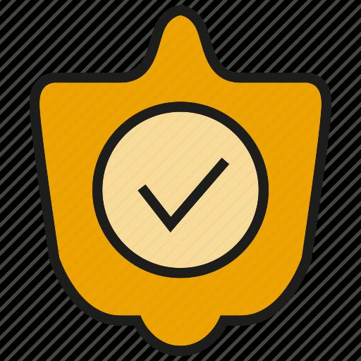 check, guarantee, prevent, security, shield, tick icon
