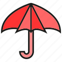 brolly, protect, sunshade, umbrella, verge icon