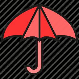 brolly, protect, sunshade, umbrella, verge icon