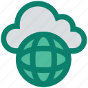 cloud, cloud globe, global, planet, server, storage, world