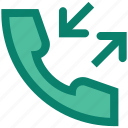 arrows, call, call receive, outgoing, phone, telephone