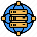 big, connection, data, interface, network, security, storage icon