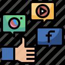 file, digital, social, campaign, web, seo, media icon