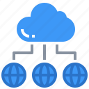 cloud, data, interface, multimedia, network, storage icon