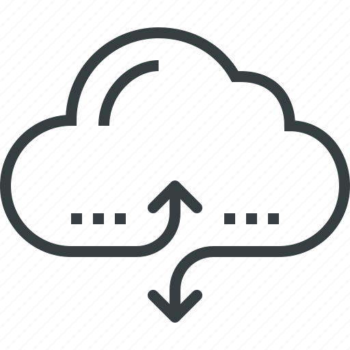 access, cloud, communication, computing, connection, data, internet, network icon