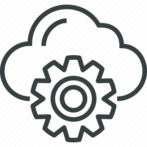 cloud, computing, configuration, data, options, preferences, process, settings icon