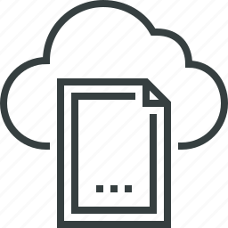 access, cloud, document, file, internet, network, online, web icon
