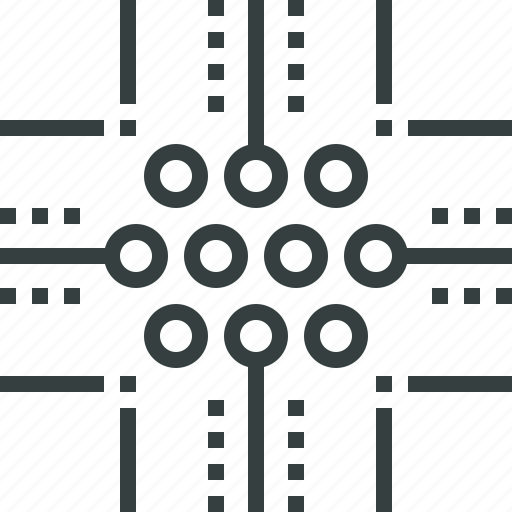 channel, communication, connection, data, infrastructure, network, technology icon