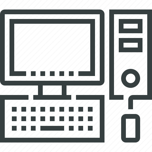 computer, desktop, device, hardware, pc icon