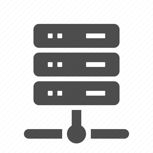 connection, database, hosting, network, node, server icon