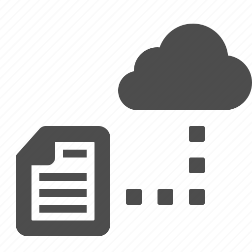 cloud, cloud computing, connection, data, document, file, storage icon