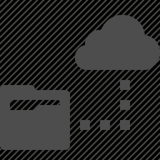 cloud, cloud computing, file, folder, hosting, network, storage icon