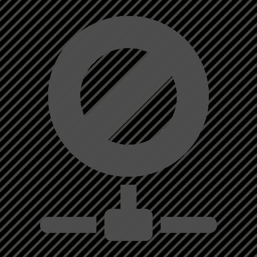 connection, data, denied, forbidden, network, node, restricted icon