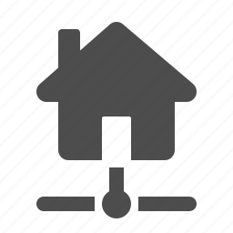 connection, data, home, house, network, node icon