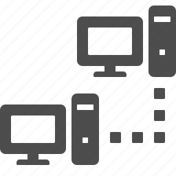 computer, connection, data, network, pc icon