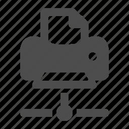 connection, data, network, printer icon
