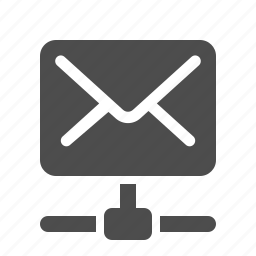 connection, e-mail, email, envelope, mail, network icon