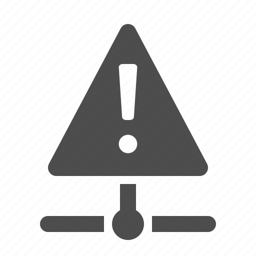 connection, danger, data, network, node, warning icon