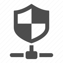 connection, data, network, node, security, shield icon