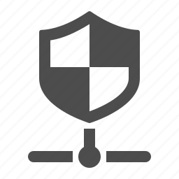 connection, data, network, security, shield icon