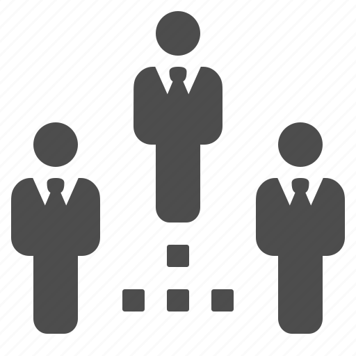 business, businessman, connection, hierarchy, network icon