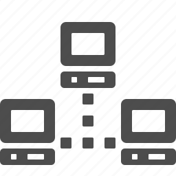 computer, connections, data, network, pc icon