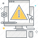 browser, error, exclamation, laptop, message, website icon