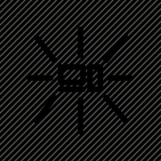 computer networking, networking, networking topology, star topology, topology icon