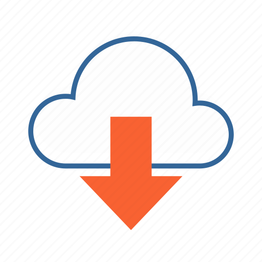 cloud, data sharing, download, share icon