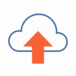 cloud, data sharing, share, upload icon