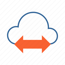 cloud, data access, data sharing, network icon
